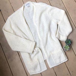 Vintage Cream Grandpa Sweater